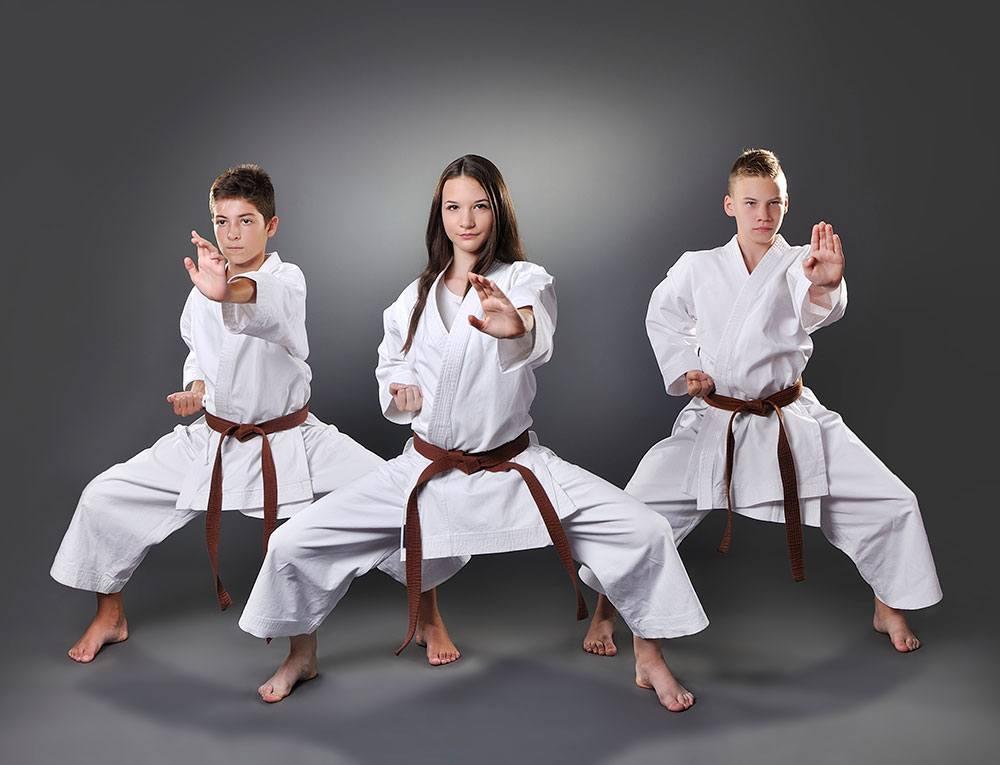 teen martial arts students